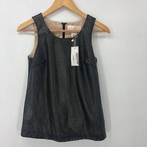 Julie Brown NWT $160 Black leather laser cut out